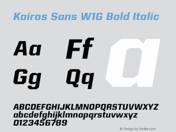 KairosSansW1G-BoldItalic Version 1.00图片样张