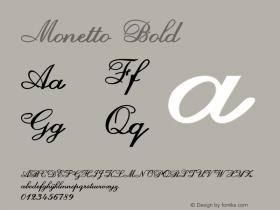 Monetto-Bold Version 1.000图片样张