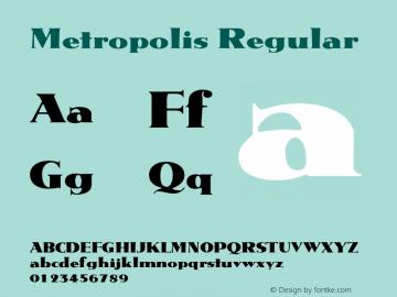 Metropolis Regular 001.001 Font Sample