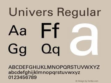 Univers 55 Roman Version 1.03 Font Sample