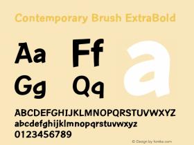 Contemporary Brush ExBd Version 1.0图片样张