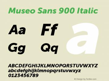 Museo Sans 900 Italic Version 1.000图片样张