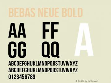 Bebas Neue Bold Regular Version 1.300图片样张