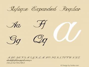 Stylique-ExpandedRegular Version 1.000图片样张