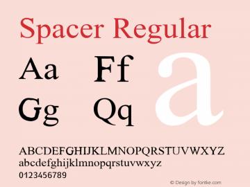 Spacer version 1.00图片样张