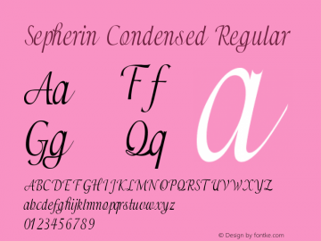 Sepherin-CondensedRegular Version 1.000图片样张