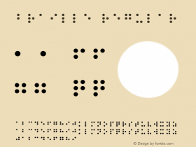 Braille Regular Altsys Fontographer 3.5  8/17/95图片样张