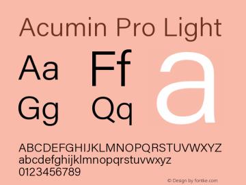 AcuminPro-Light Version 1.011图片样张