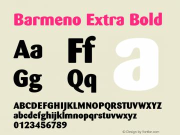 barmeno font family