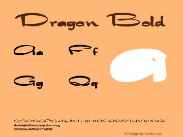 Dragon Bold Altsys Fontographer 4.1 1/30/95 Font Sample