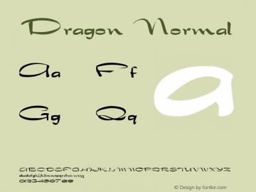 Dragon Normal Altsys Fontographer 4.1 1/30/95 Font Sample