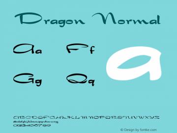 Dragon Normal Altsys Fontographer 4.1 5/25/96 Font Sample