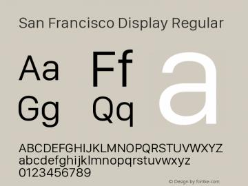 San Francisco Display Regular Version 1.00 September 22, 2015, initial release图片样张