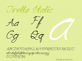 TrellaItalic Version 1.000图片样张