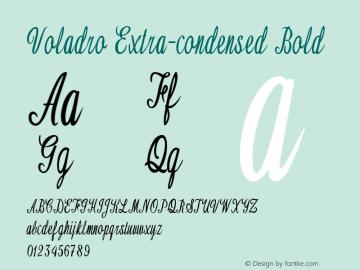 Voladro-ExtracondensedBold Version 1.000图片样张