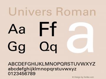 Univers 55 Roman Version 001.004 Font Sample