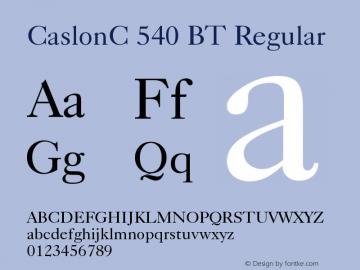 CaslonC 540 BT Version 001.000图片样张