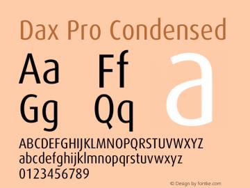 Dax Pro Condensed Version 7.504图片样张