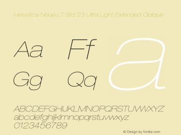 Helvetica Neue LT Std Font,HelveticaNeueLTStd-UltLtExO Font