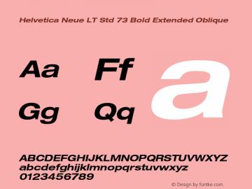 Helvetica Neue LT Std Font,HelveticaNeueLTStd-BdExO Font