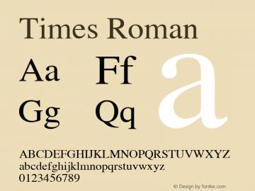Times  Roman Macromedia Fontographer 4.1.2 16/12/02图片样张