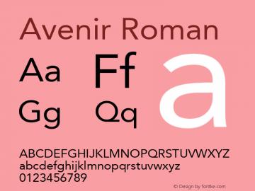 Avenir Roman Macromedia Fontographer 4.1.2 16/12/02图片样张