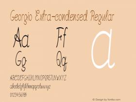 Georgio-ExtracondensedRegular Version 1.000图片样张