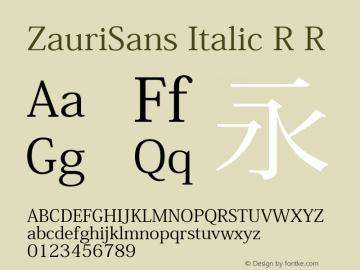 ZauriSans Italic R Version 6.003 June 29, 2017图片样张