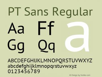 PTSans-Regular Version 1.001图片样张