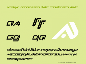 Xephyr Condensed Italic Version 2.0; 2017图片样张