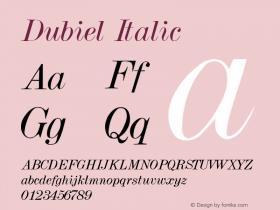 Dubiel Italic Altsys Metamorphosis:3/7/92图片样张