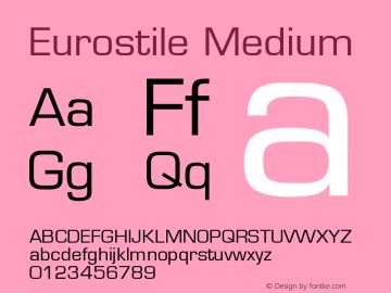 Eurostile Medium Version 001.002图片样张