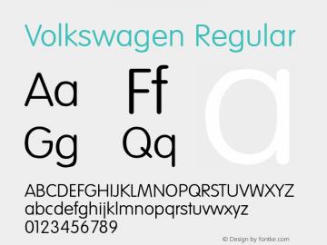 Volkswagen Regular Altsys Fontographer 3.5  9/23/93图片样张