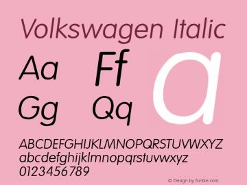 Volkswagen Italic Altsys Fontographer 3.5  9/23/93图片样张