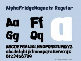 AlphaFridgeMagnets Macromedia Fontographer 4.1.5 6/20/04图片样张