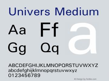 Univers Medium Version 1.3 (ElseWare) Font Sample