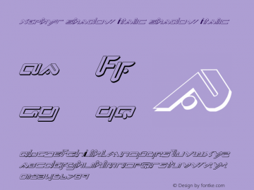 Xephyr Shadow Italic 1图片样张