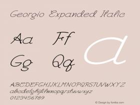 Georgio-ExpandedItalic Version 1.000图片样张