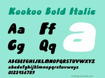 Kookoo-BoldItalic Version 1.000图片样张