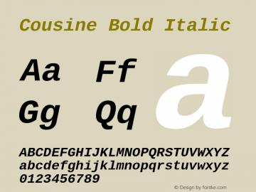 Cousine Bold Italic Version 1.21图片样张