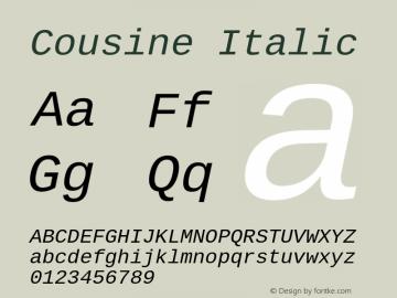 Cousine Italic Version 1.21图片样张