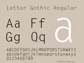 Letter Gothic (C)opyright 1992 WSI:8/6/92图片样张