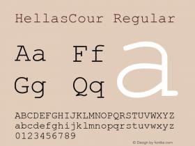 HellasCour Regular Altsys Fontographer 3.5  11-06-92图片样张