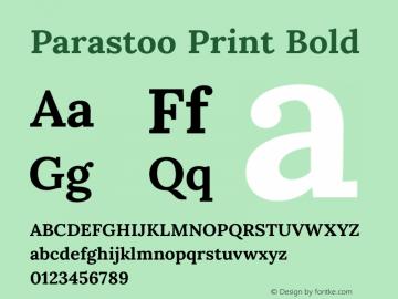 Parastoo Print Bold Version 1.0.0-alpha3 Font Sample