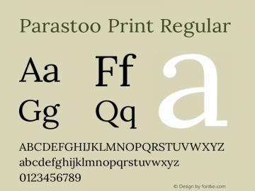 Parastoo Print Version 1.0.0-alpha3 Font Sample