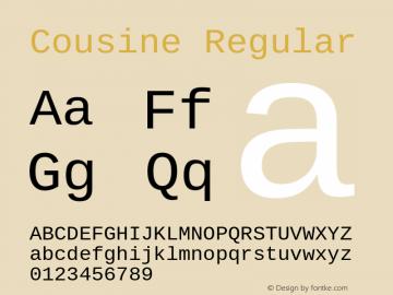 Cousine Regular Version 1.20图片样张