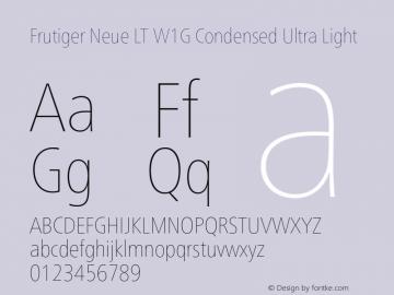 FrutigerNeueLTW1G-CnUltLt Version 1.00图片样张