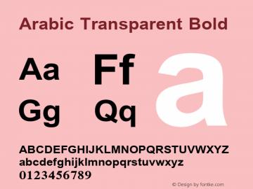 Arabic Transparent Bold Glyph Systems 5-April-96 Font Sample