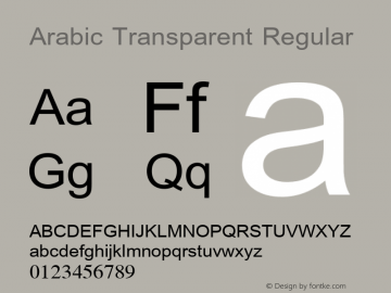 Arabic Transparent Regular Version 1.01图片样张