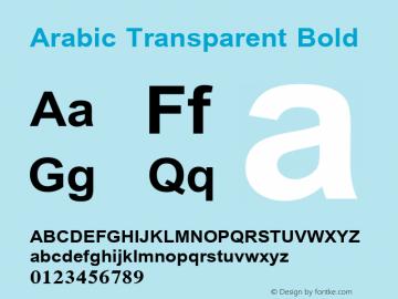 Arabic Transparent Bold Version 1.01 Font Sample